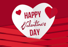 Valentine's day wish card vector illustration Stock Images