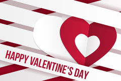 Valentine's day wish card vector illustration Royalty Free Stock Photography