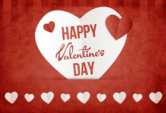 Valentine's day wish card vector illustration Royalty Free Stock Photo