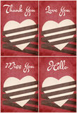 Valentine's day wish card vector illustration Royalty Free Stock Images