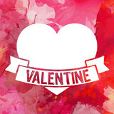 Valentine's day wish card vector illustration Stock Photos