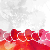 Valentine's day wish card vector illustration Stock Photography