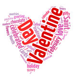 Valentine's Day word cloud Royalty Free Stock Photo