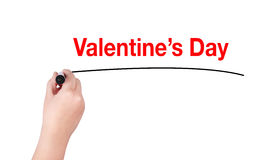 Valentine's day word write Stock Photography