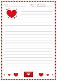 Valentine`s day writing activity for children, Valentine`s day writing activity for childreny. Valentine`s day writing activity for children,  English writing Royalty Free Stock Photography