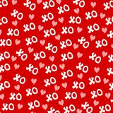 Valentine's Day XO Hearts Background 2 Royalty Free Stock Images