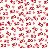 Valentine's Day XO Hearts Background Royalty Free Stock Photos