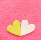 Valentine's decorations,. Valentine's felt decorations, heart shapes Royalty Free Stock Photos
