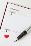 Valentine's Diary Stock Photography