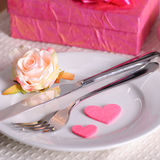 Valentine's dinner Stock Image