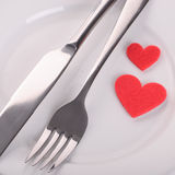 Valentine's dinner Stock Photos