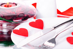 Valentine's dinner Royalty Free Stock Photography