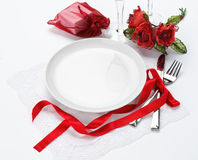 Valentine's dinner invitation Royalty Free Stock Images
