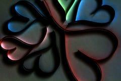 Valentine& x27; s dnia abstrakcjonistyczny tło z cięcie papierem kolorowym słucha zdjęcie stock