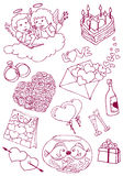 Valentine's doodles Royalty Free Stock Images