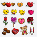 Valentine's Doodles Stock Images