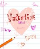 Valentine's doodles. Royalty Free Stock Photos