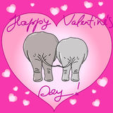 Valentine's elephants Royalty Free Stock Photography