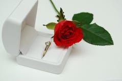 Valentine s'est levé 4 Photo libre de droits