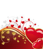 Valentine's floral background Royalty Free Stock Photography