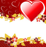Valentine's floral banner Royalty Free Stock Photo