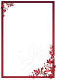 Valentine's floral frame Royalty Free Stock Photos
