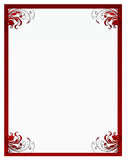 Valentine's floral frame Royalty Free Stock Photography