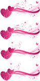 Valentine's floral wave backgrounds Stock Images
