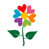 Valentine's  flower. Valentine's hearts as flower.Vector format Royalty Free Stock Photography