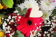 Valentine's flower arrangement. Royalty Free Stock Images