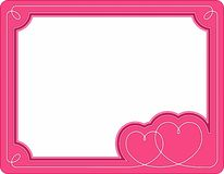Valentine's frame Royalty Free Stock Photo