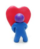 Valentine's Gift. 3d Man Holding Valentine's Yeart Gift Stock Photos