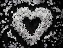 Unusual Valentine beloved _ salty heart stock photography