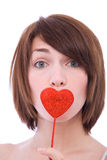 Valentine's girl Stock Images