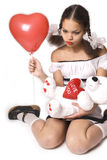 Valentine's Girl Royalty Free Stock Photography