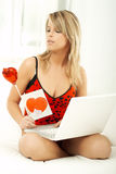 Valentine's Girl Stock Images