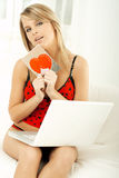 Valentine's Girl Royalty Free Stock Images