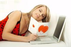 Valentine's Girl Stock Photos