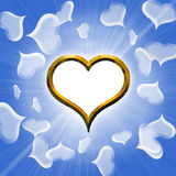 Valentine's golden heart Stock Photo