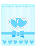 Valentine's greeting card with blue hearts Royalty Free Stock Photos