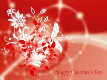 Valentine's greeting card with flowers Stock Image