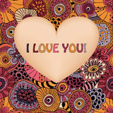 Valentine's Greeting Card Royalty Free Stock Images