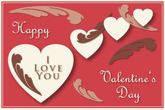 Valentine's greeting card Stock Photos