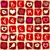Valentine's greeting card or seamless pattern Stock Photos
