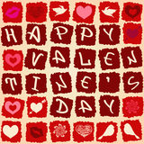 Valentine's greeting card or seamless pattern Stock Photography