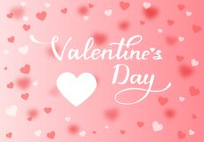 Valentine`s greeting card. Royalty Free Stock Photography