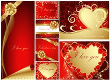 Valentine's greeting cards Stock Images