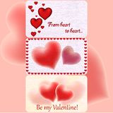 Valentine`s greeting cards Stock Photo