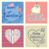 Valentine's greeting cards set Stock Image