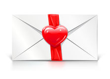Valentine's greeting letter love heart Royalty Free Stock Photo